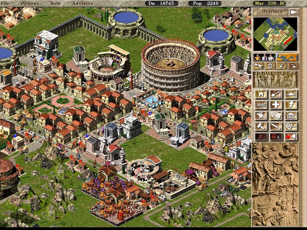 Capture d'écran Caesar III (Sierra, 1998)